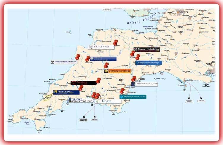 Disply board centre MAP